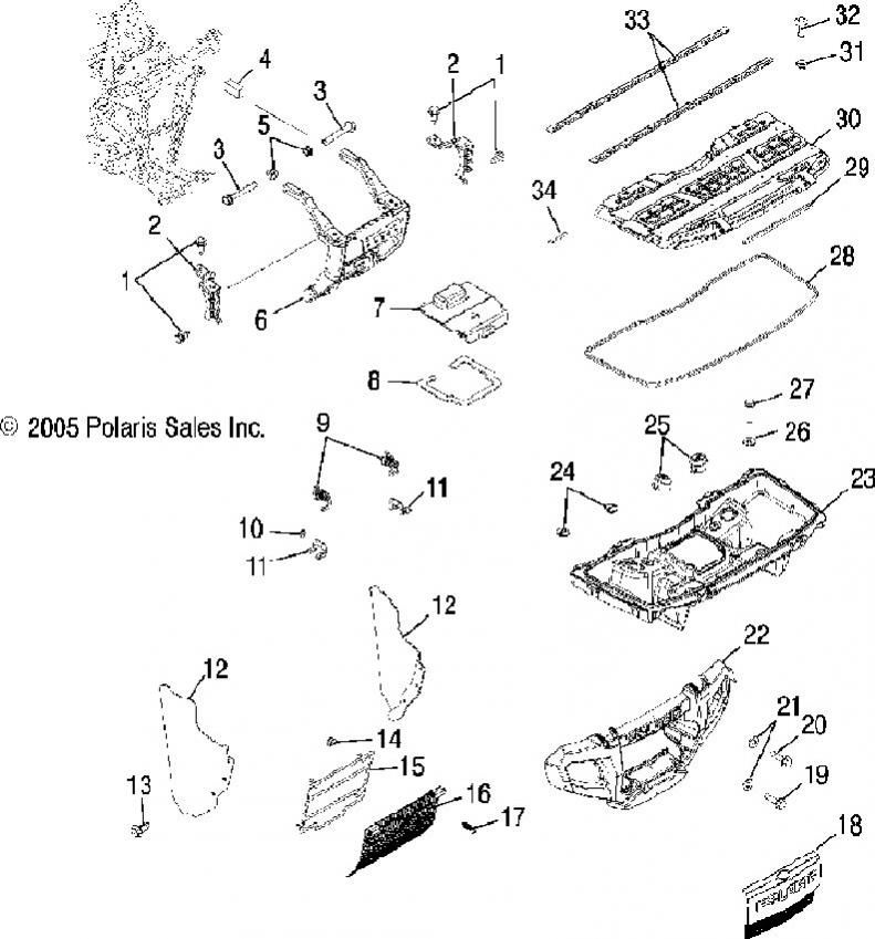 2004 polaris ranger parts diagram