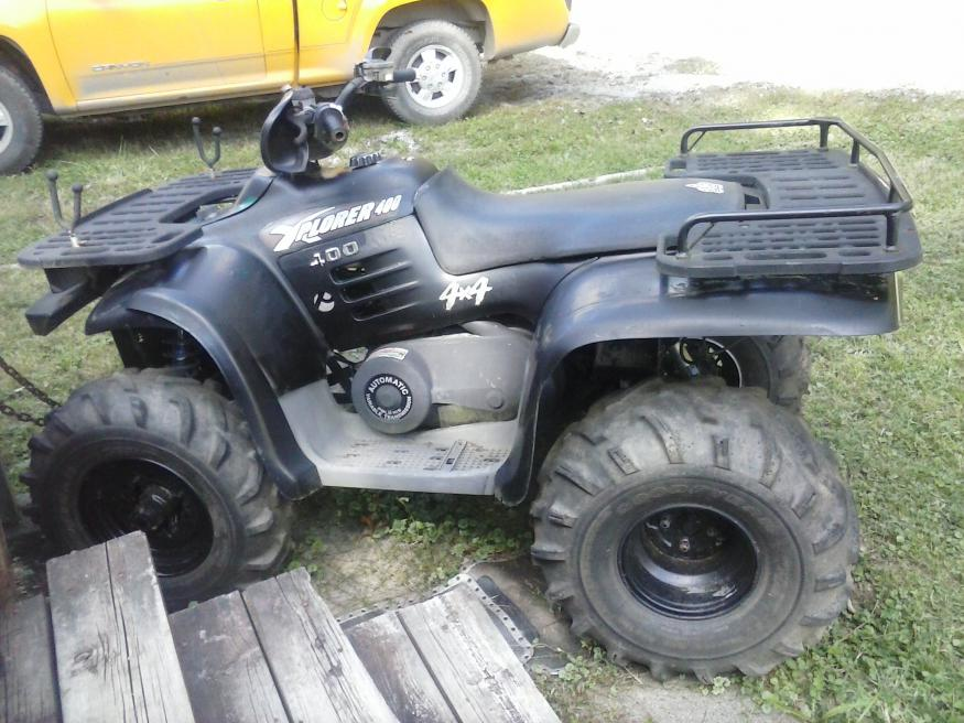 D Hello Everbody Xplorer X Black on 2001 polaris sportsman 400 4x4