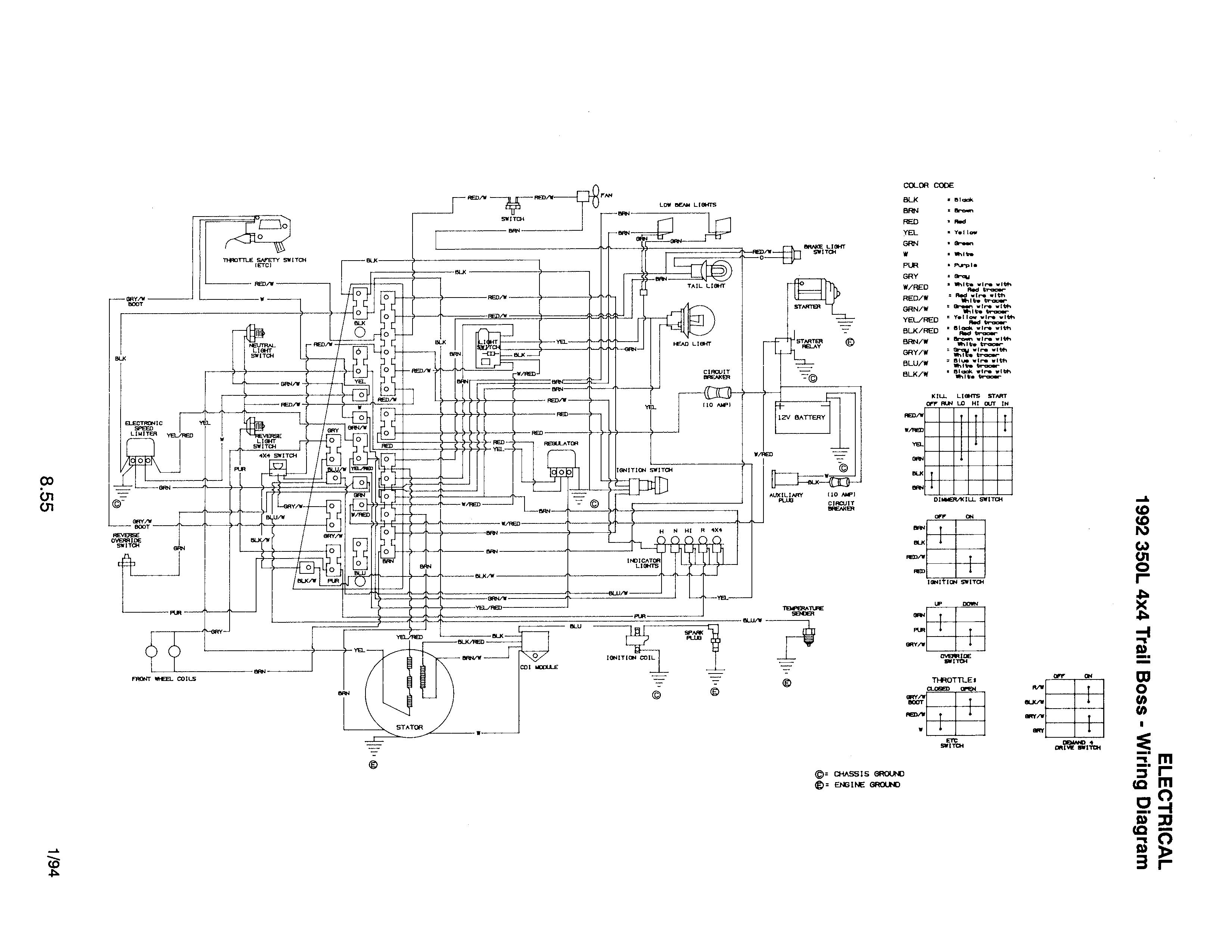 1993 350l 4x4 Switch Help Please