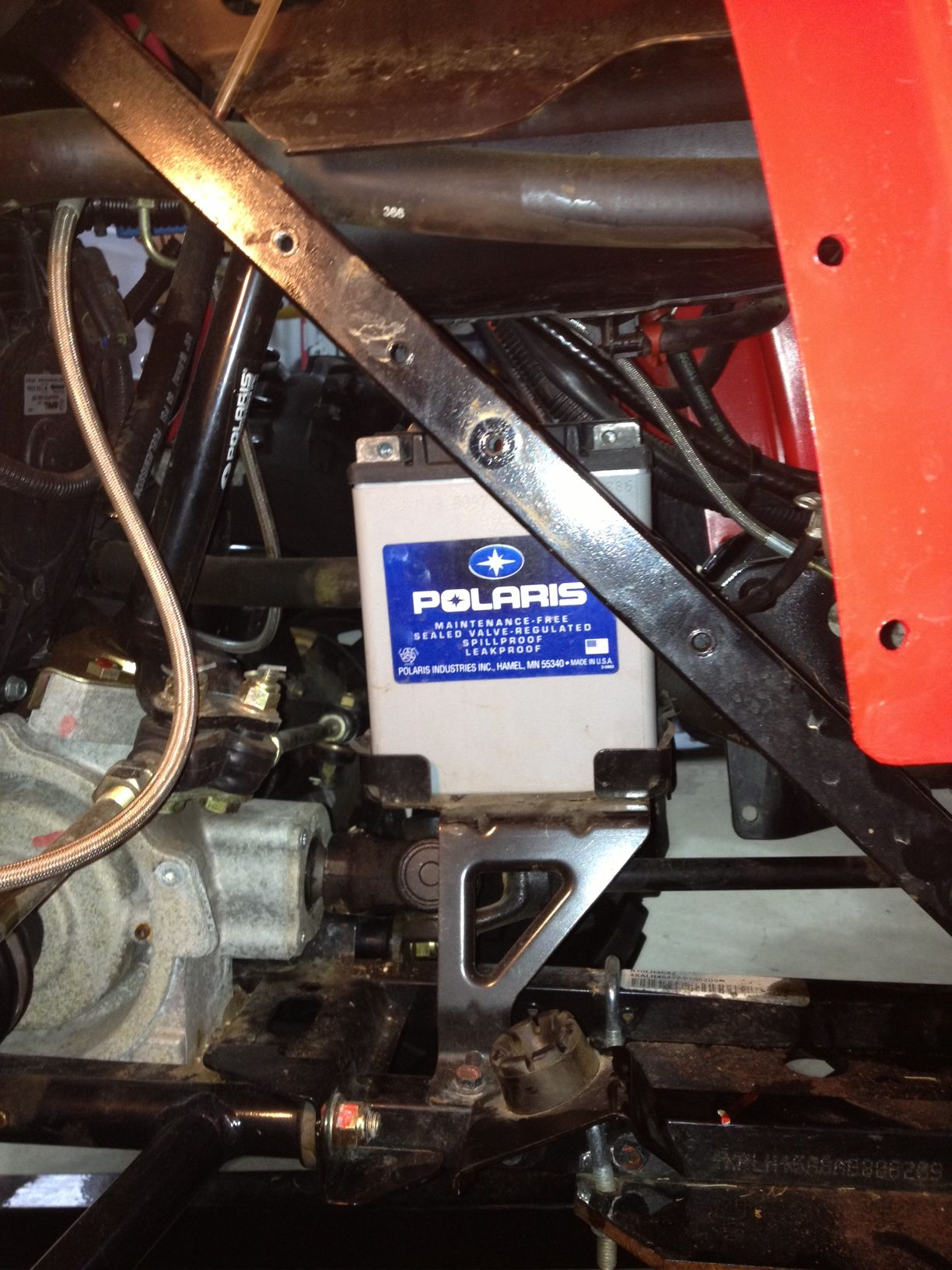 polaris sportsman 400ho battery removal