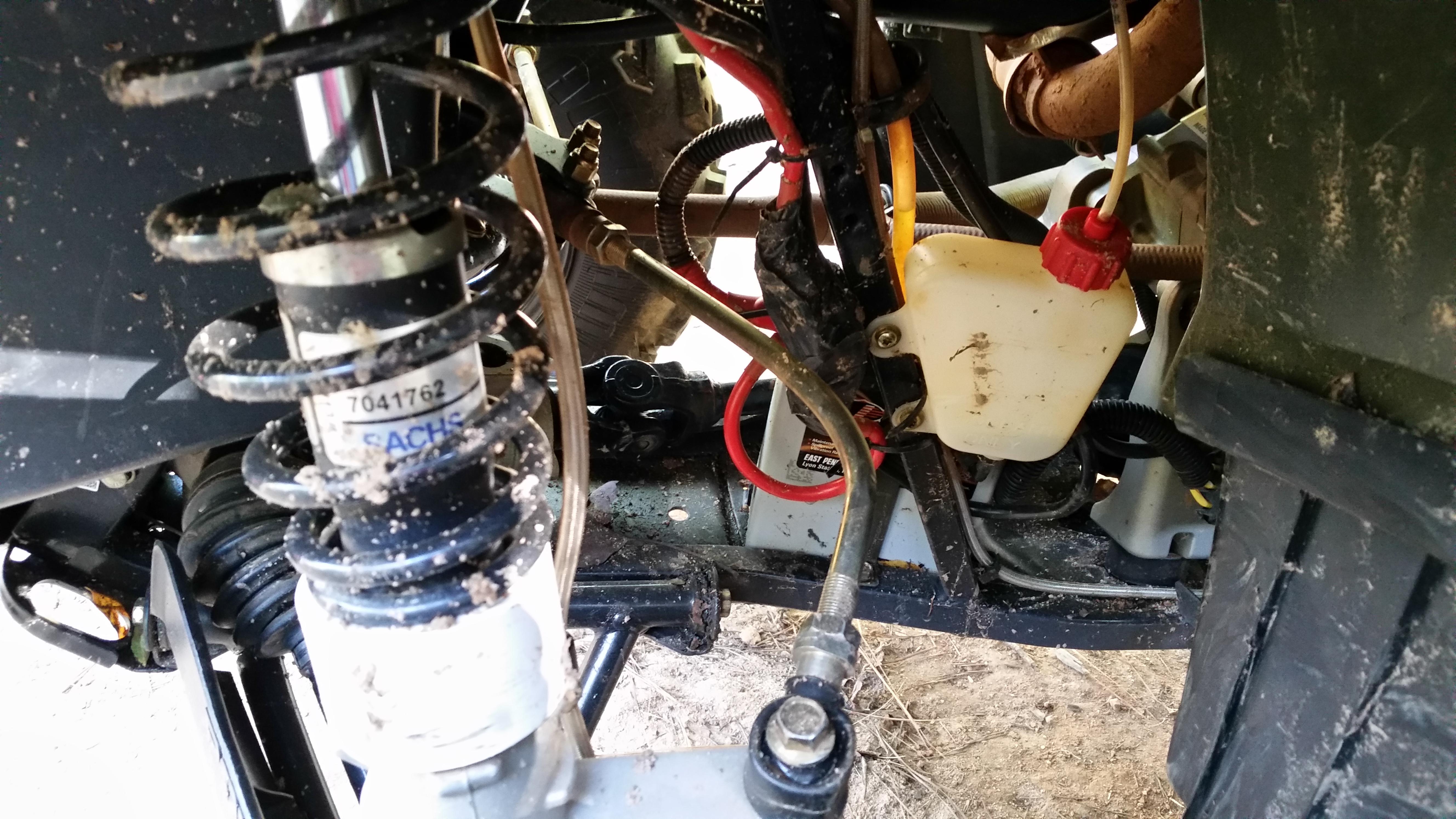 Be careful with front suspension - Polaris ATV Forum