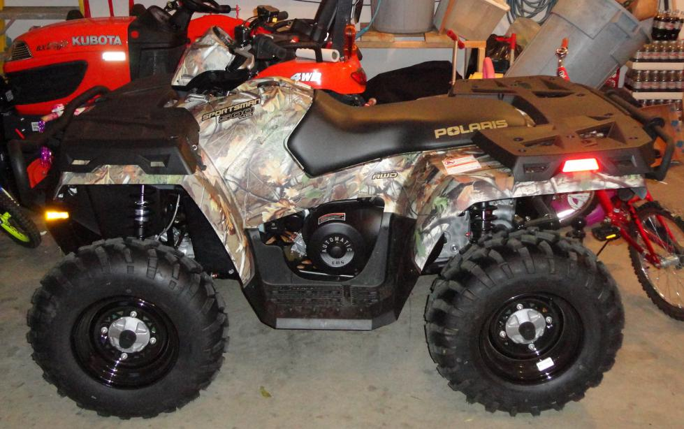 2012 Polaris Sportsman 500 HO LE Camo with front & rear brush guards