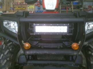 Front led light bar polaris atv forum mozeypictures Gallery