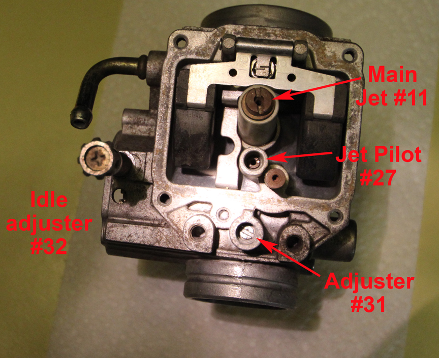 D Carb Adjustment Polaris Sportsman Bottom View on Mikuni Carburetor Diagram