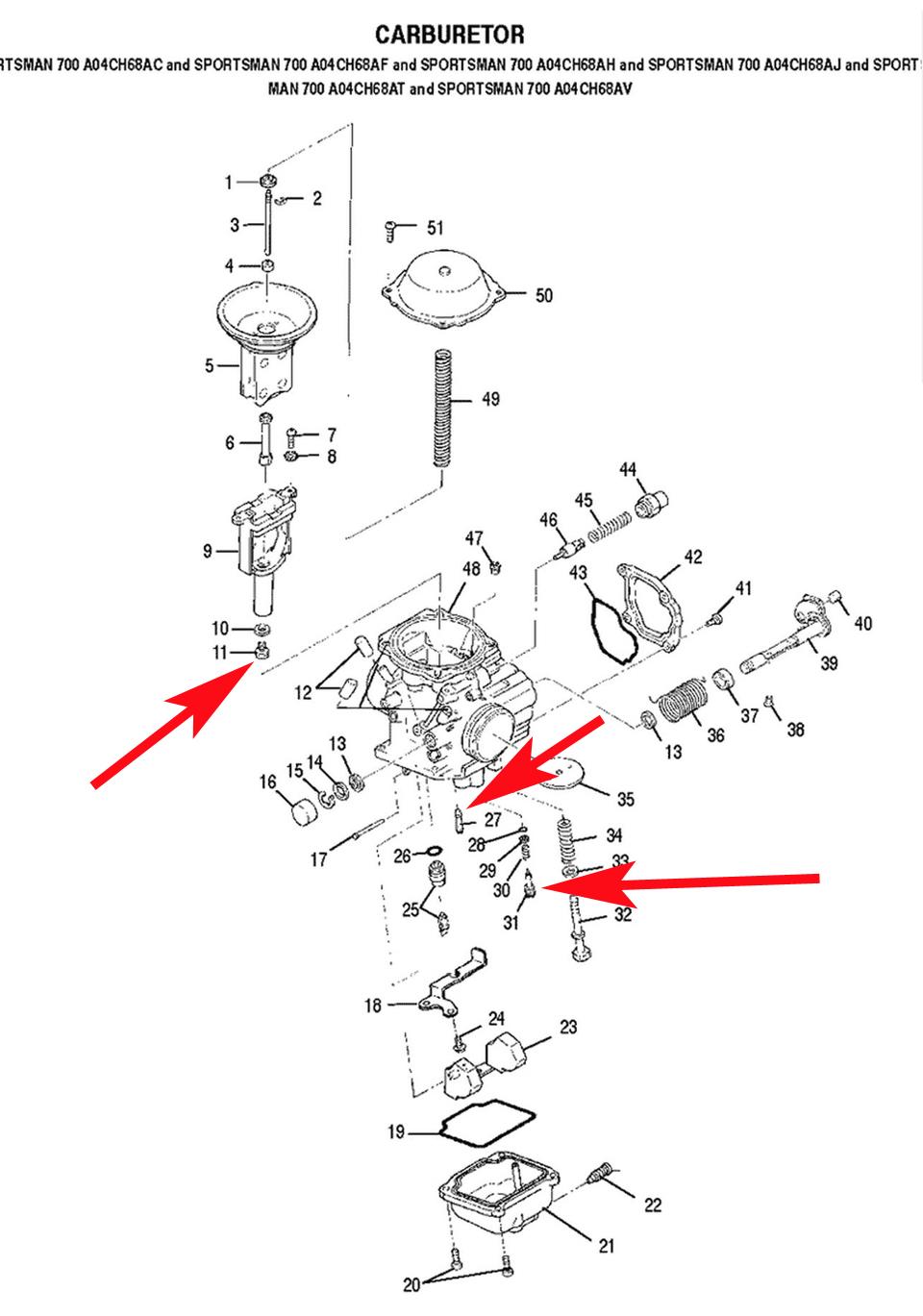 1999 Polaris Scrambler 500 Carburetor Adjustment
