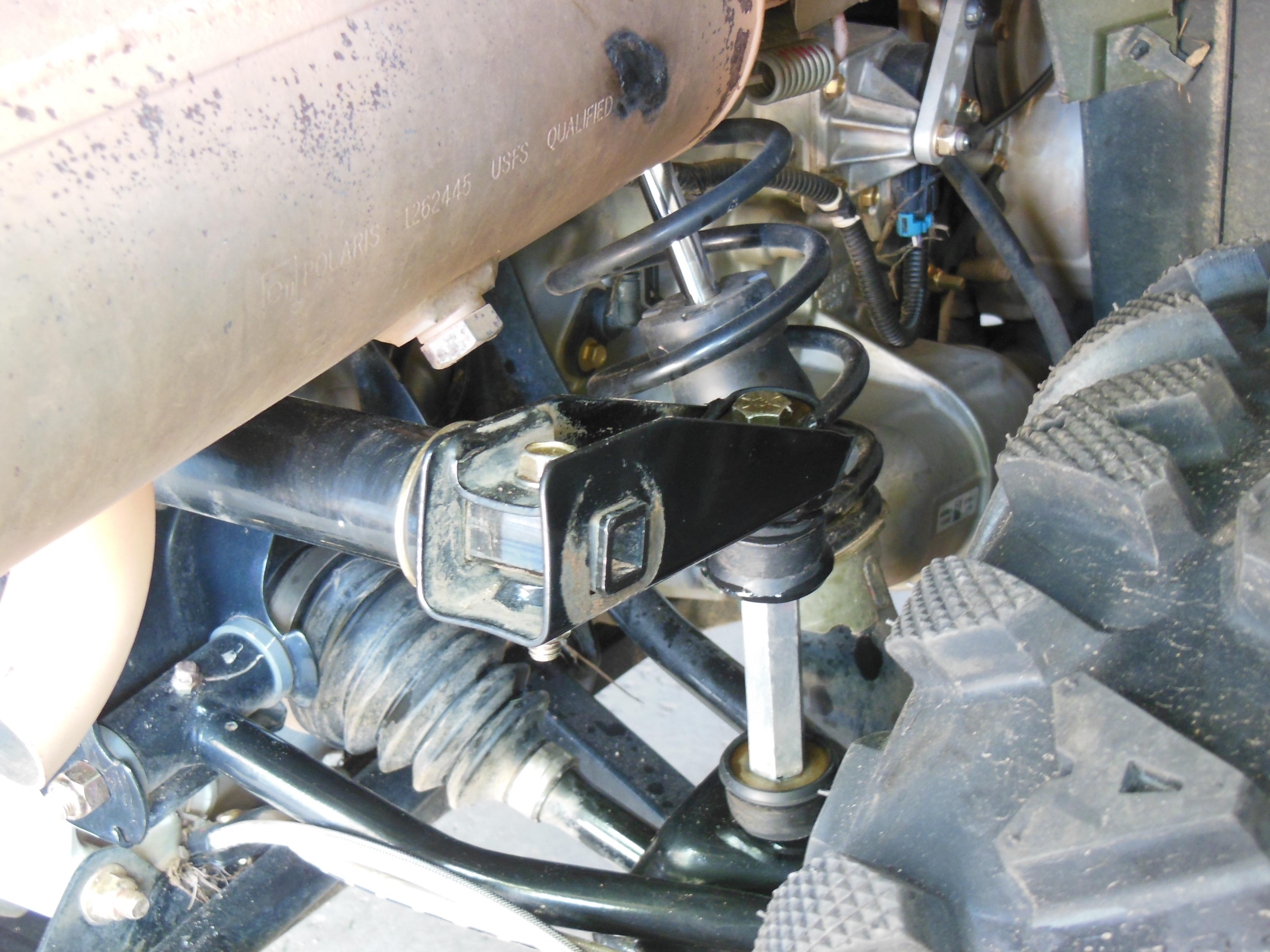 Sportsman 570 Rear Rh Sway Bar Link Contacting Exhaust