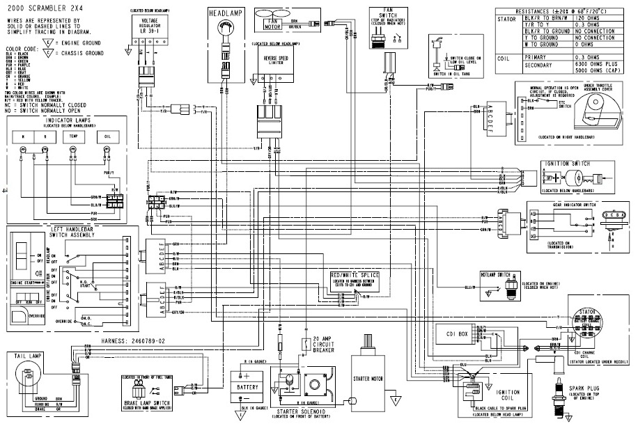 battery cable wiring diagram polaris scrambler 2000 camaro battery cable wiring diagram new guy intro and issue with 2005 scrambler 500 ho - page ...