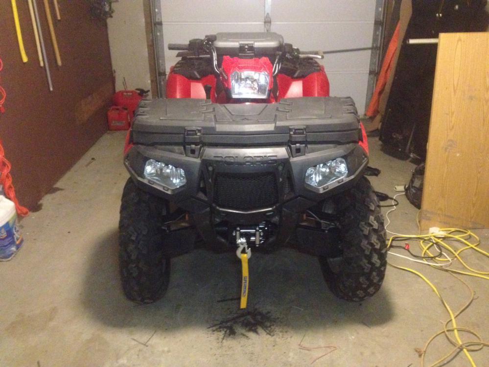 Superwinch LT3000 & KFI 100740 Mount - Polaris ATV Forum