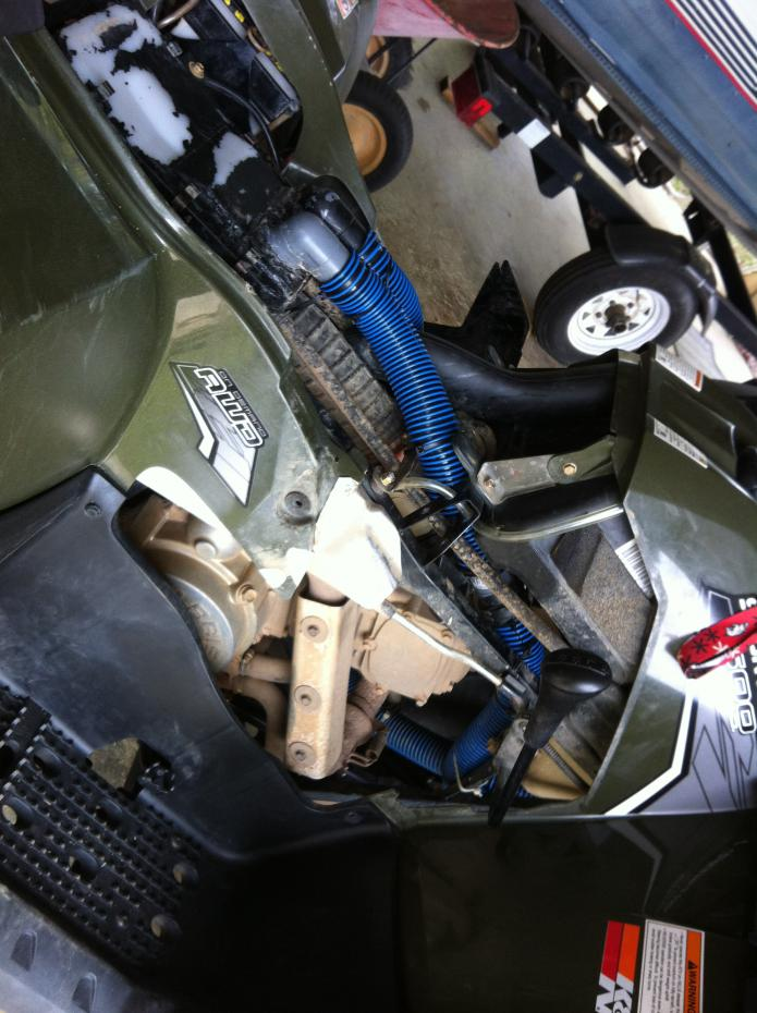 Custom Sportsman 500 HO Snorkel Project-hosing-right-side.jpg