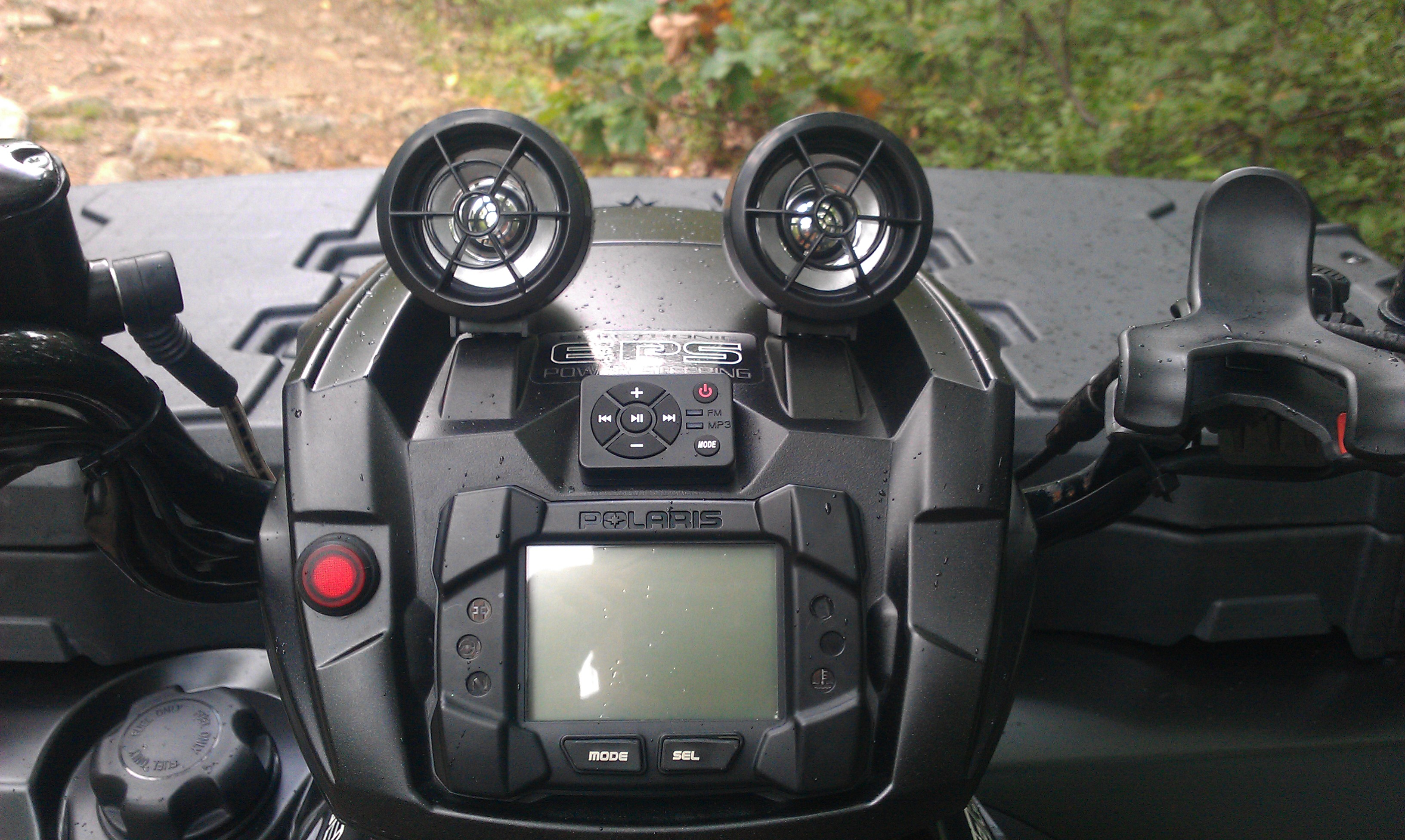 New Stereo On My 550 Polaris Atv Forum