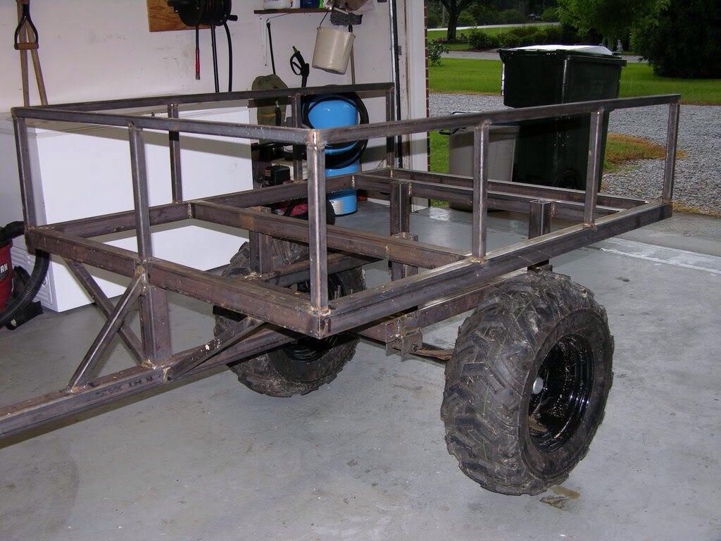 ... ATV Trailer further Truck Bed ATV Carrier. on homemade atv wagon plans