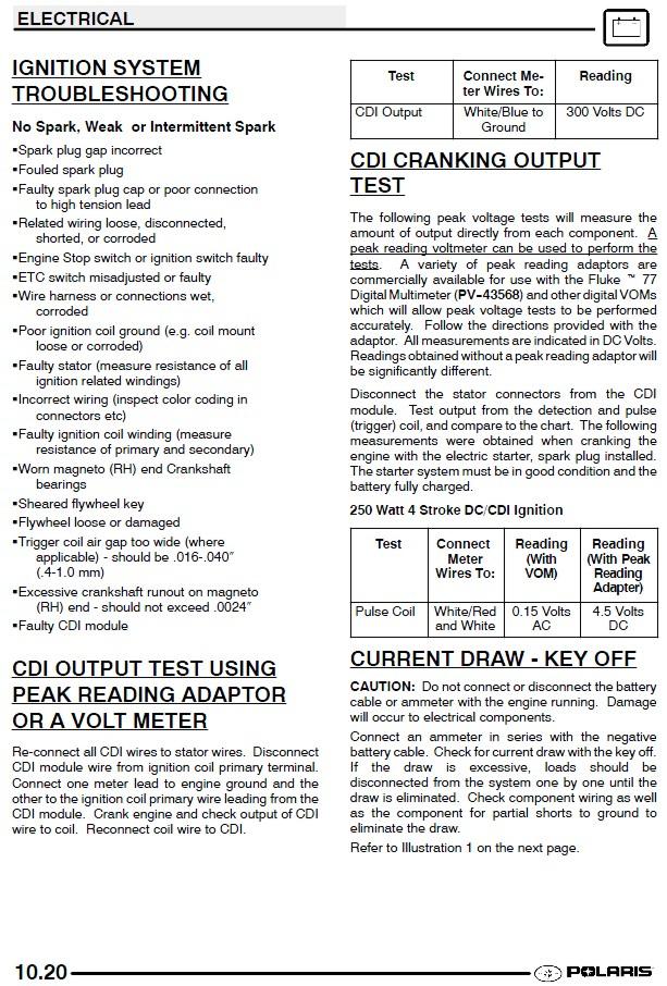 Exelent Cdi Circuit 2001 Polaris Sportsman 500 Vignette - Wiring ...