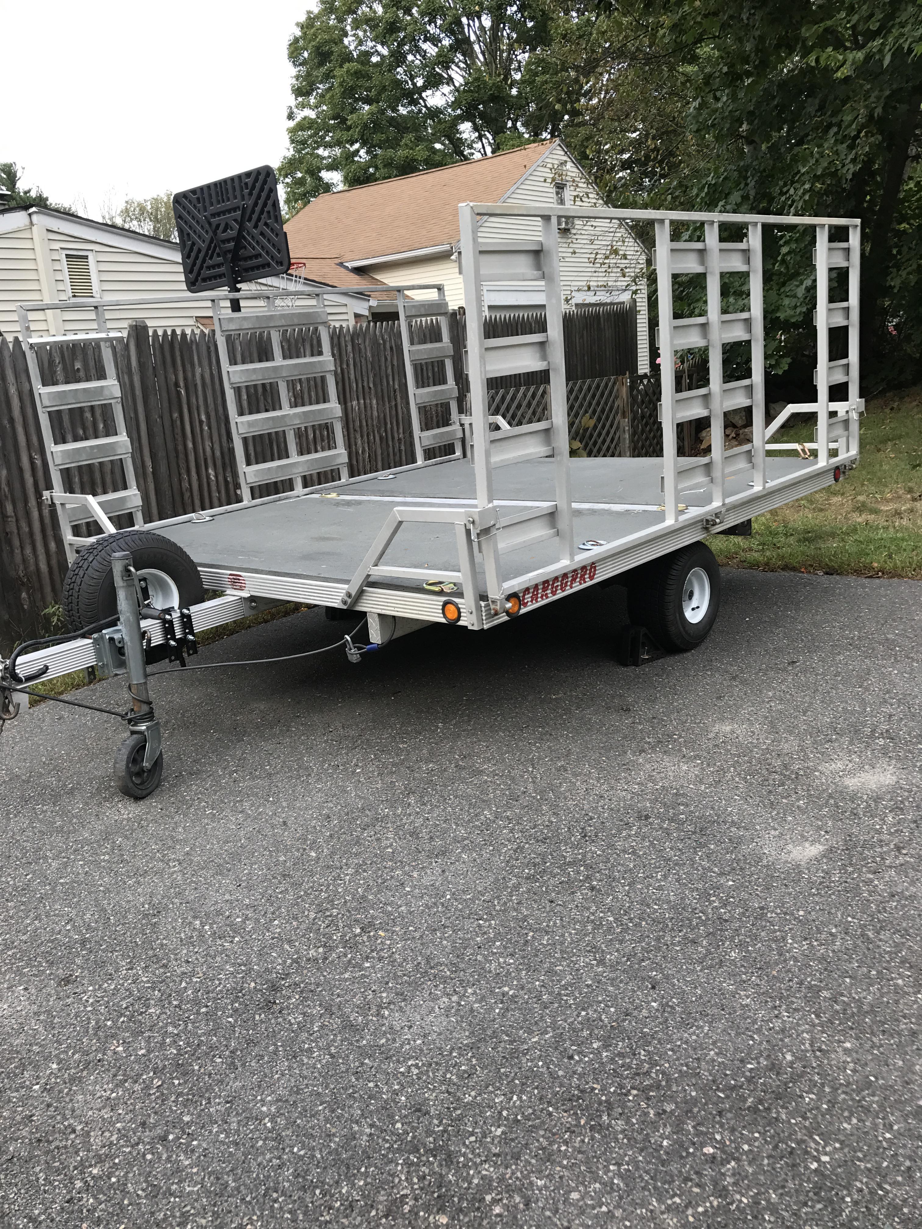 Shortest trailer to pull 2 four wheelers? - Polaris ATV Forum