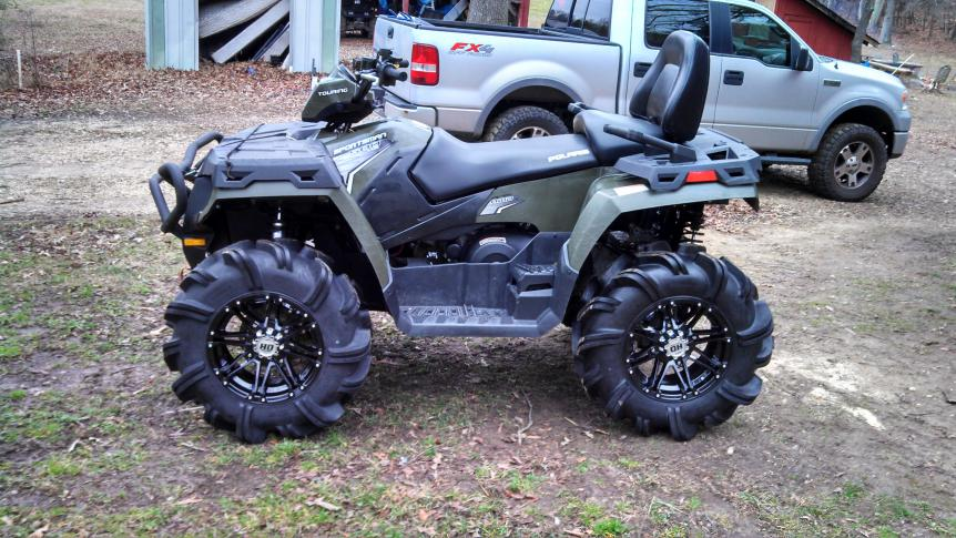 Polaris Sportsman 800 >> Polaris ATV Forum - View Single Post - Big tires with no lift - Let's see some pics.