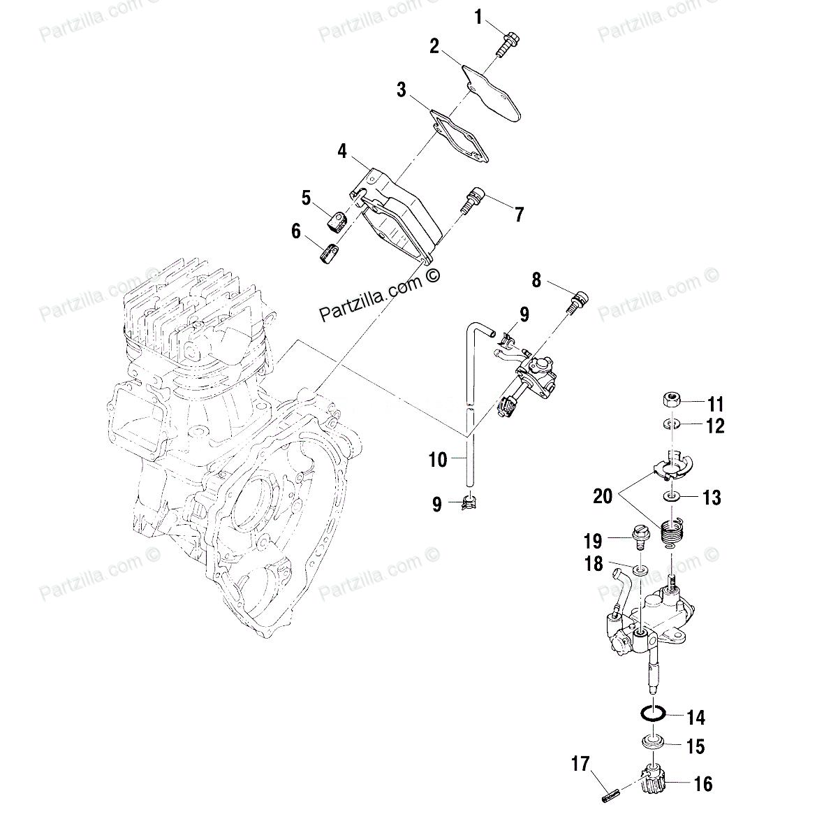 2000 xplorer 400 oil injector plate return spring