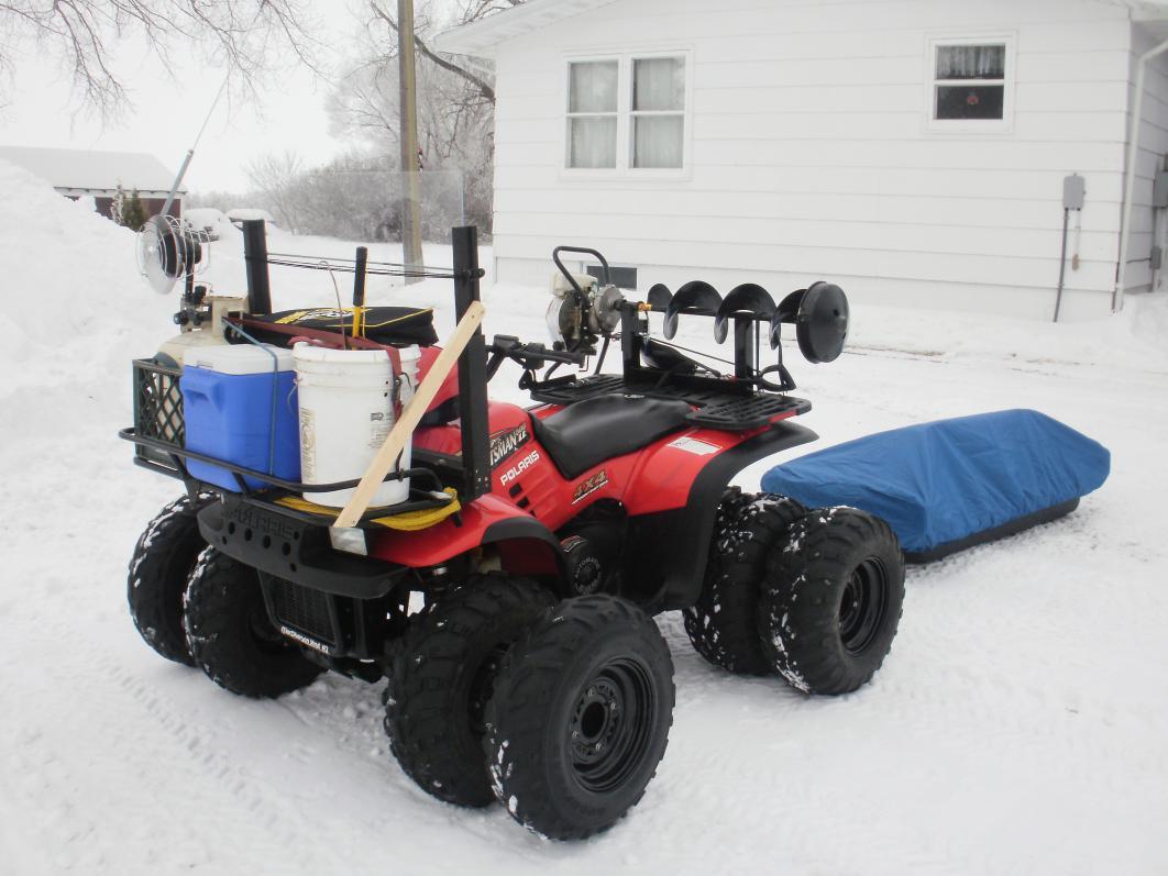Diy Atv Shelter : Diy atv ice auger mount do it your self
