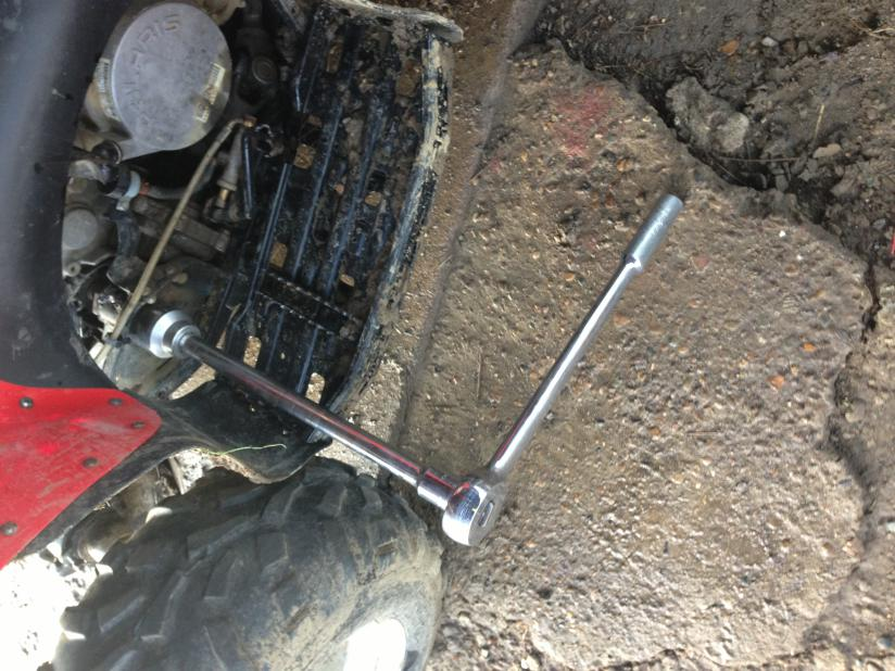 How Much Is A Wheel Alignment >> How to remove swingarm pivot bolts - Polaris ATV Forum