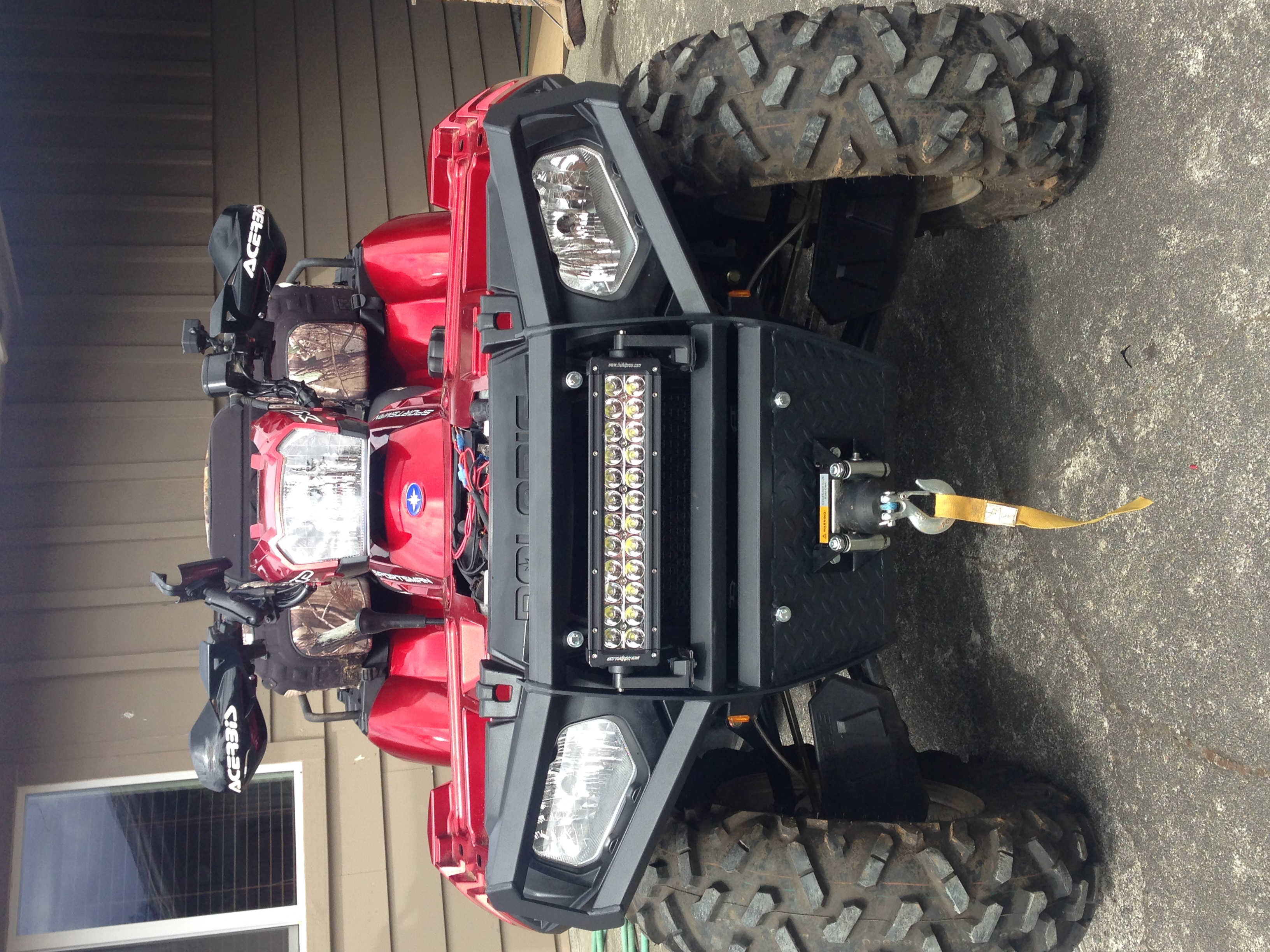 New Bumper Amp Light Bar Installed Pics Polaris Atv Forum