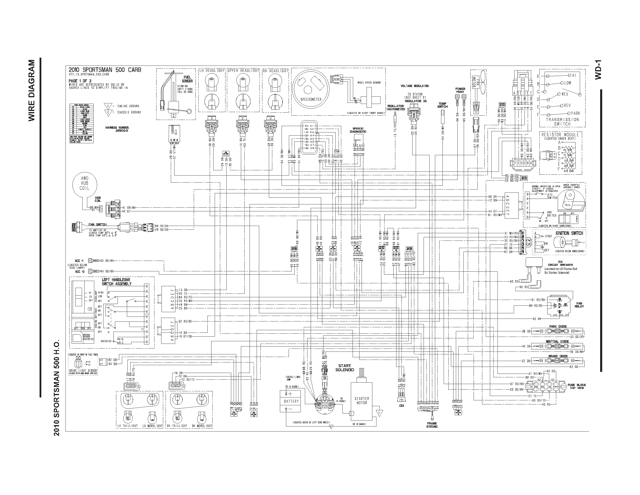 2010 polaris sportsman 500 wiring diagram polaris sportsman 500 wiring diagram electric scooter schematic #15