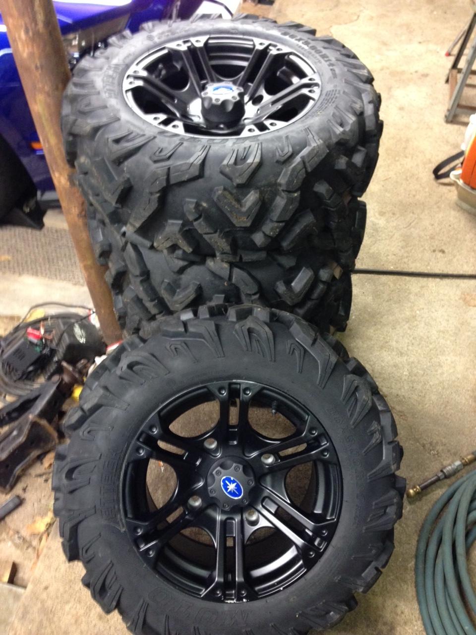 Wheel  U0026 Tire Kit Black Sixr 14 U0026quot