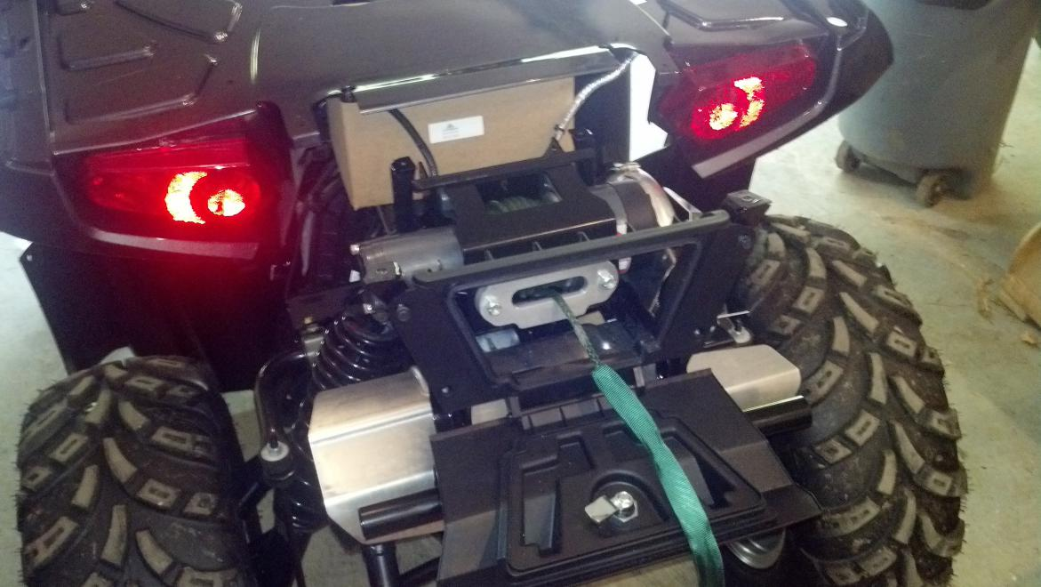 2012 Sportsman 850 Custom Rear Winch Polaris Atv Forum