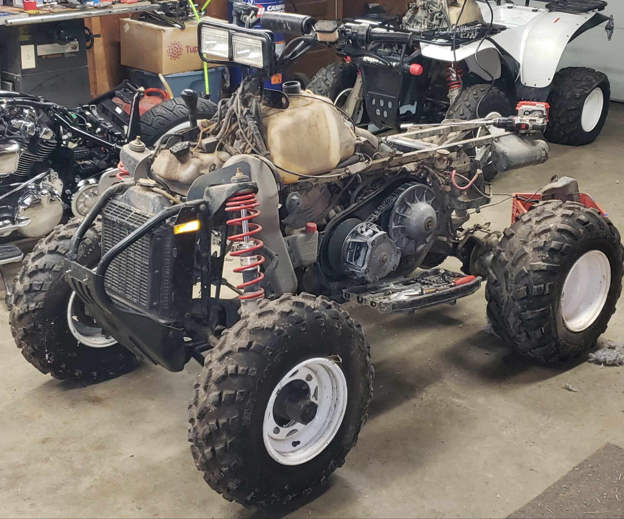 2000 POLARIS SCRAMBLER X 400 4X4  #4 RIGHT FRONT SHOCK SCRAMBLER 400
