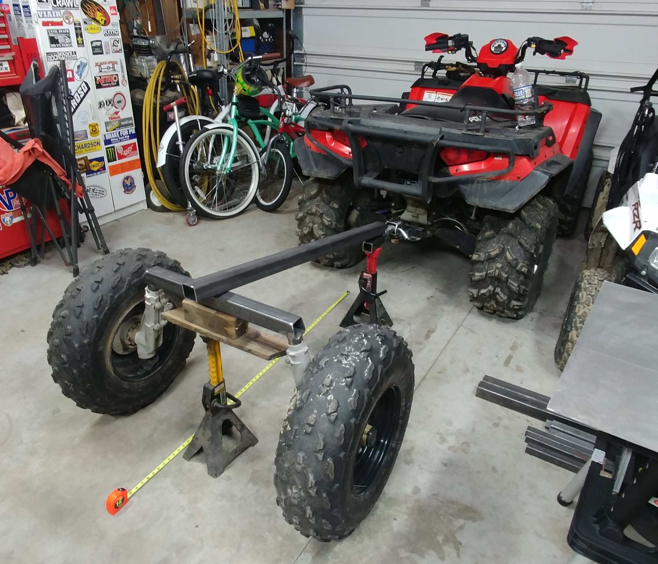 Off-road Trailer Build Using Polaris parts-setting-wheelbase.jpg