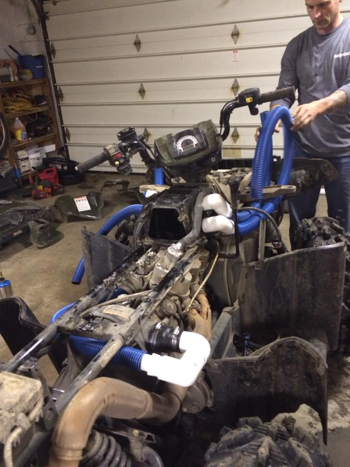 Polaris Scrambler 850 >> Custom Snorkel Kit for my 13' 850 XP!!! - Polaris ATV Forum