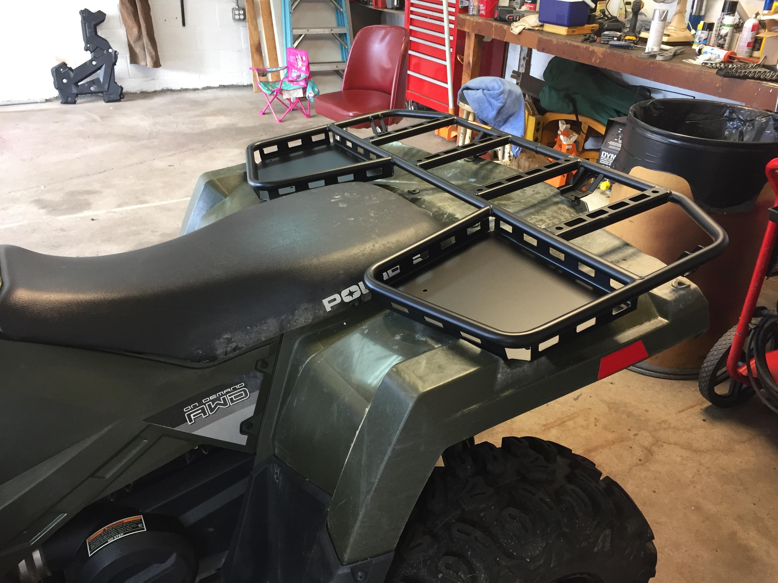 New Rear Tough Rack on my 570 - Polaris ATV Forum