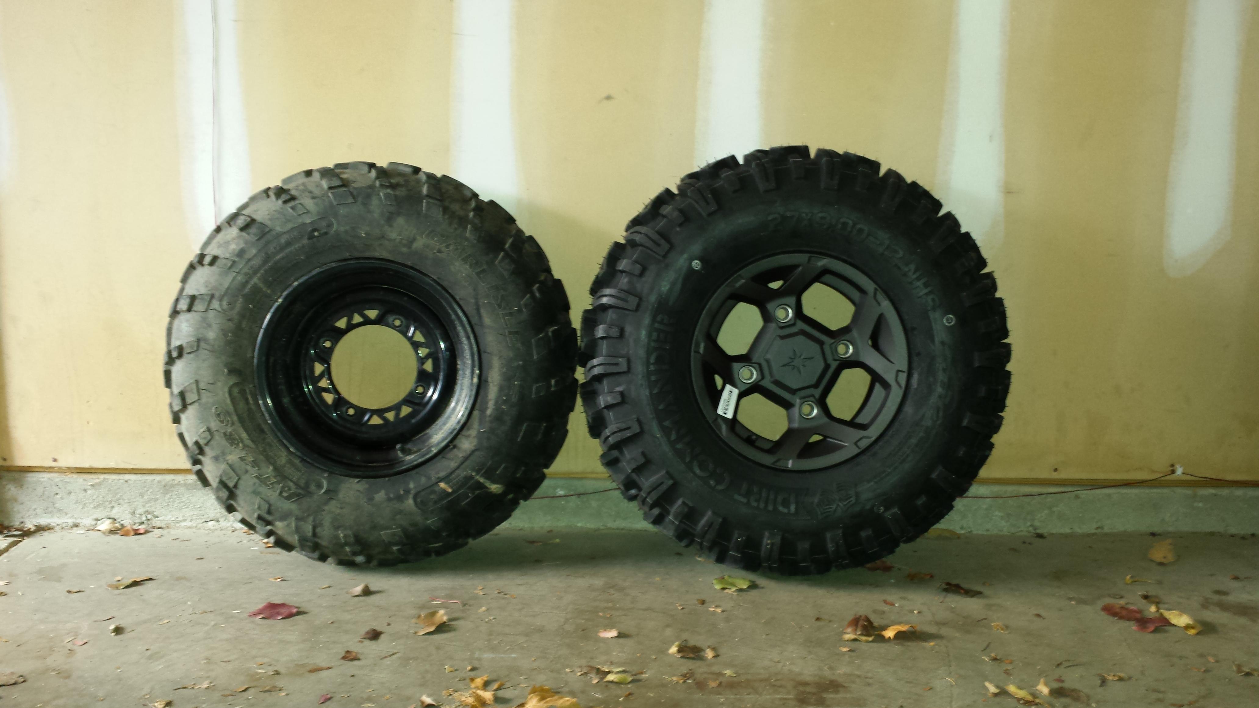 Tire Size Comparison Side By Side >> 2015 RZR 900 S wheels on 570 sportsman - Polaris ATV Forum
