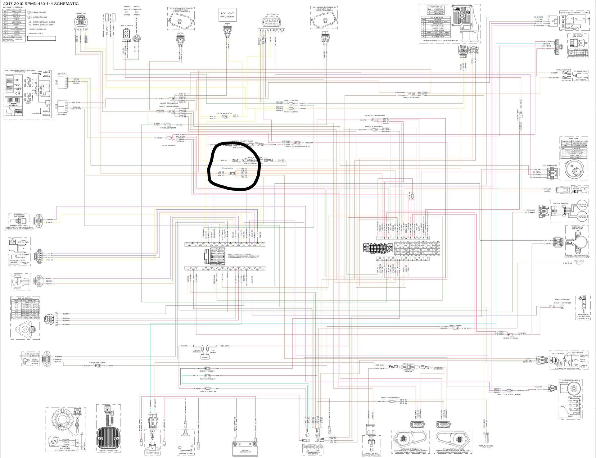 can't find wiring splice location   Polaris ATV Forum   Splice Wiring Diagram      Polaris ATV Forum