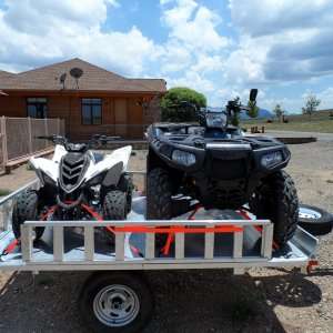 ATVs loaded and ready to go